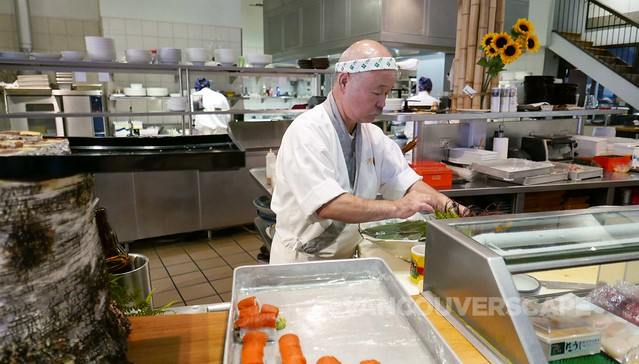Tojo making culinary magic