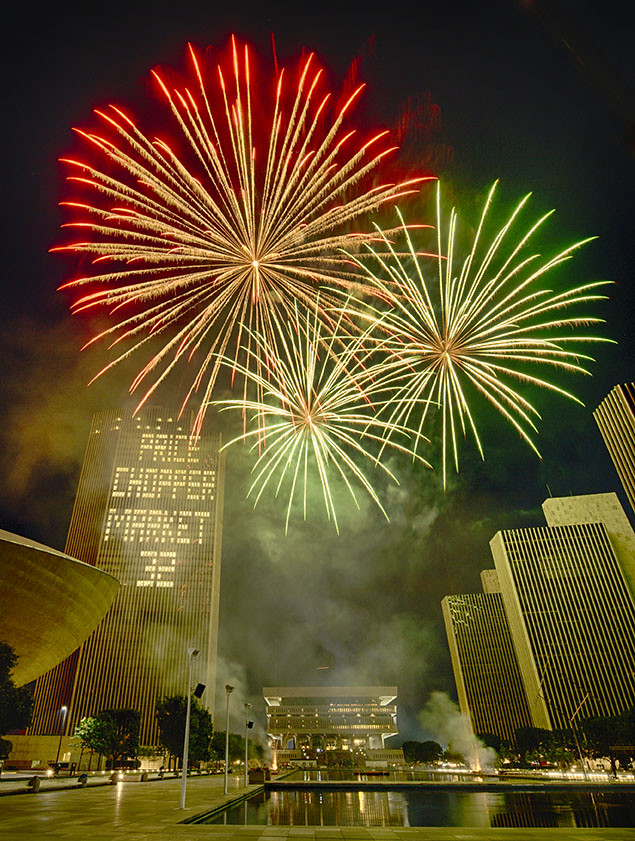 Empire State Plaza, July 4 2017
