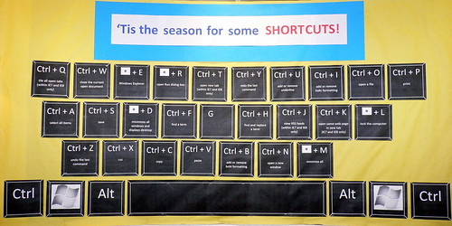 keyboard shortcut bulletin board