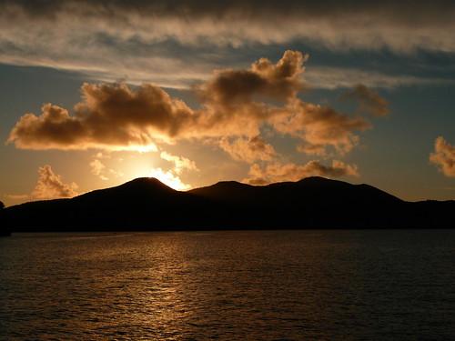 sunset clouds boat holidays sailing caribbean 2009