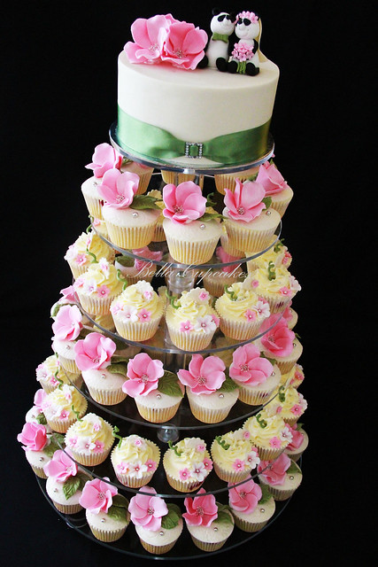 Summer Wedding Wedding Cupcake Tower for a lovely couple