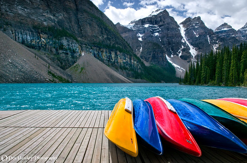 COLOURFUL CANOES.