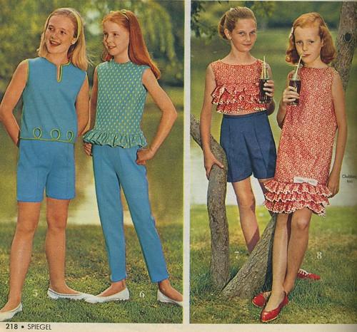 Photo:1966 Spiegel catalog girl's fashion-shorts, pants, dress By:genibee