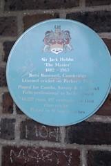 Photo of Jack Hobbs blue plaque