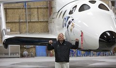 Richard Branson with VSS Enterprise_Mark Greenberg