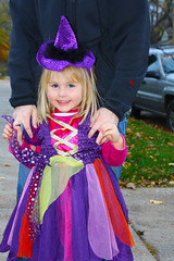 Witch costume, Hannah Halloween 2009