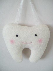 Plush Tooth Holder by LookHappyShop