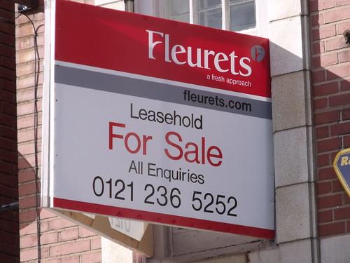 The White Swan, Grosvenor Street West – Fleurets – Leasehold For Sale sign