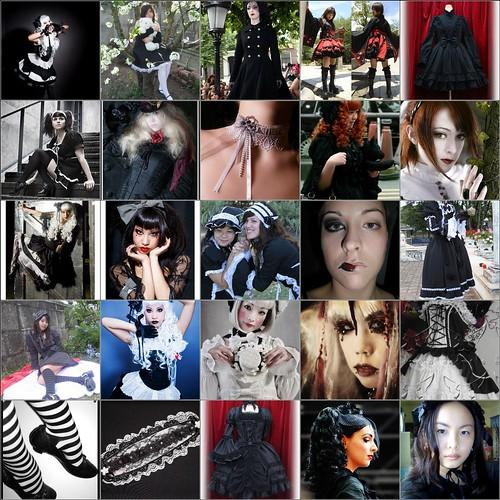 Gothic Lolita Fashion Mosaic