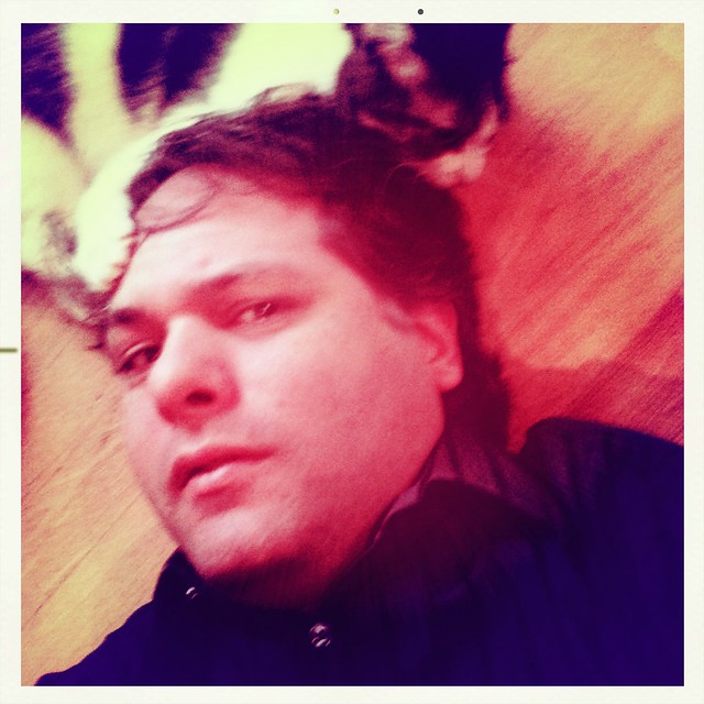 Self Portrait With Cat On The Head