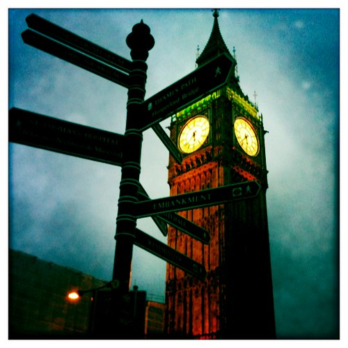 Big Ben By Night (Hipstamatic Contest Entry)