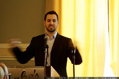 Rand Fishkin speaking in the batcave