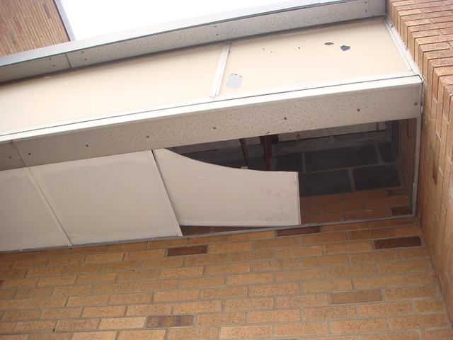 Asbestos soffit flickr photo sharing for Gypsum board asbestos