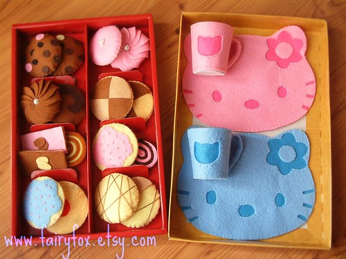 Felt food Pattern tea time from Fairyfox