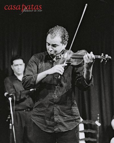 El violín de David Moreira. Foto: Martín Guerrero