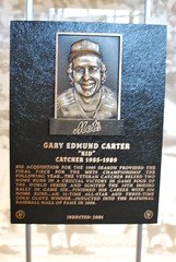 Gary Carter Hall of Fame Plaque