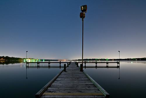 white lake water rock night mirror pier dallas texas