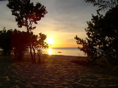 Por do sol na Praia de Ponta de Pedras Santarém Pará Amazonia Brasil