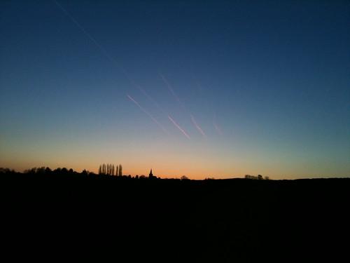 sunrise germany europe hessen 2010 hesse otzberg 201004 20100407
