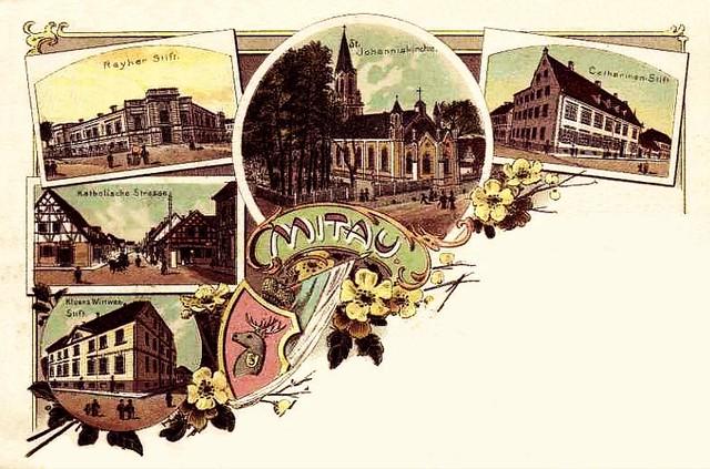 005a Mitau - Postkarte
