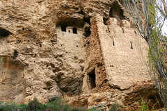 building, wall, cliff dwelling, formation, ruins, fortification, archaeological site,