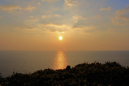 Sunset from Wheal Coates, near St.Agnes, North Cornwall Coast by Stocker Images