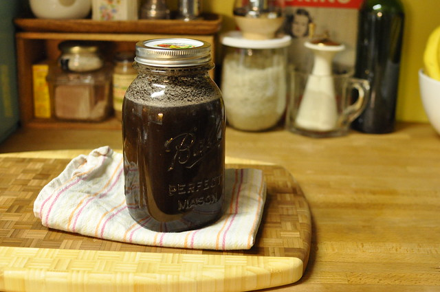 cold brew coffee - filled with water