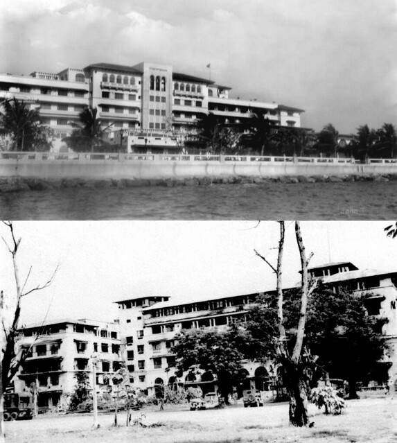 Manila Hotel before and after WWII