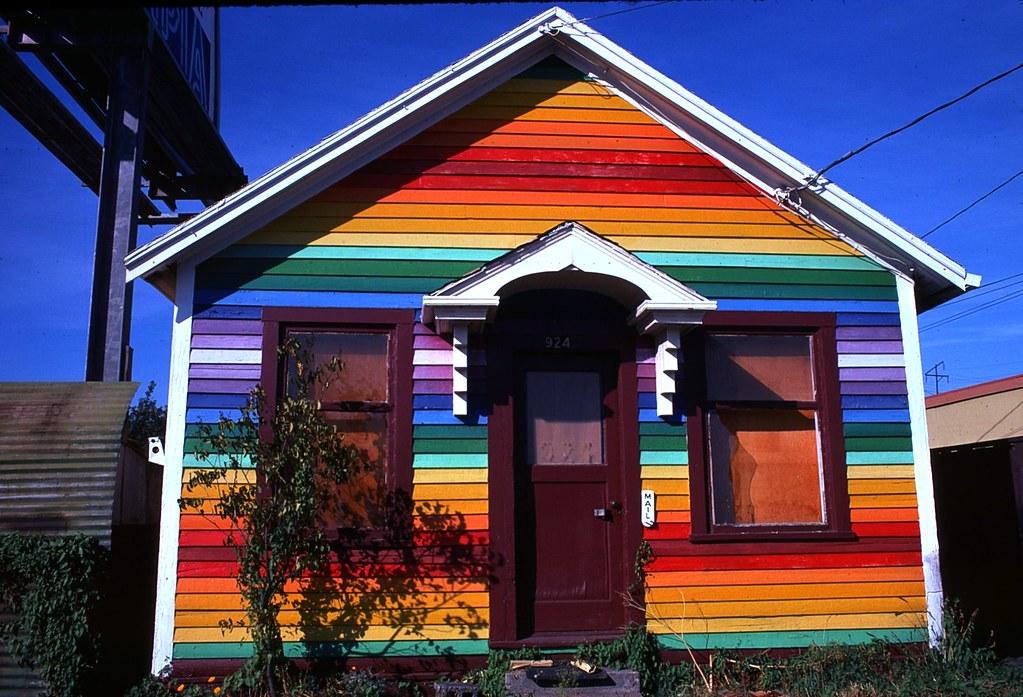 Untitled Colorful House Seattle Ballard Washington Summer