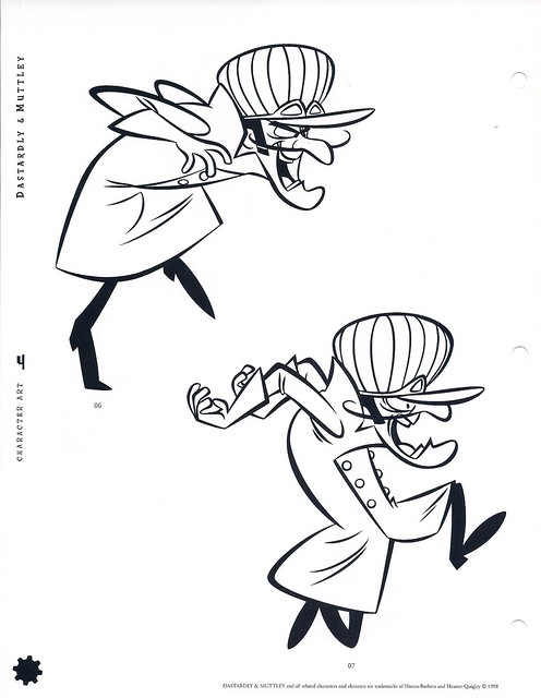 wacky races coloring pages - photo #10