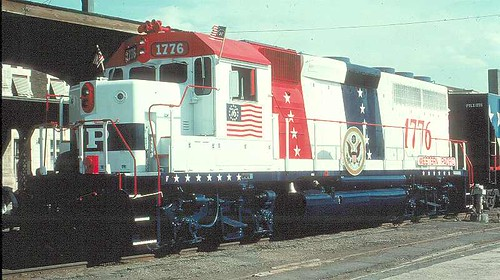 Western Pacific EMD GP 40 # 1776. Circa mid 1970's. by Eddie from Chicago