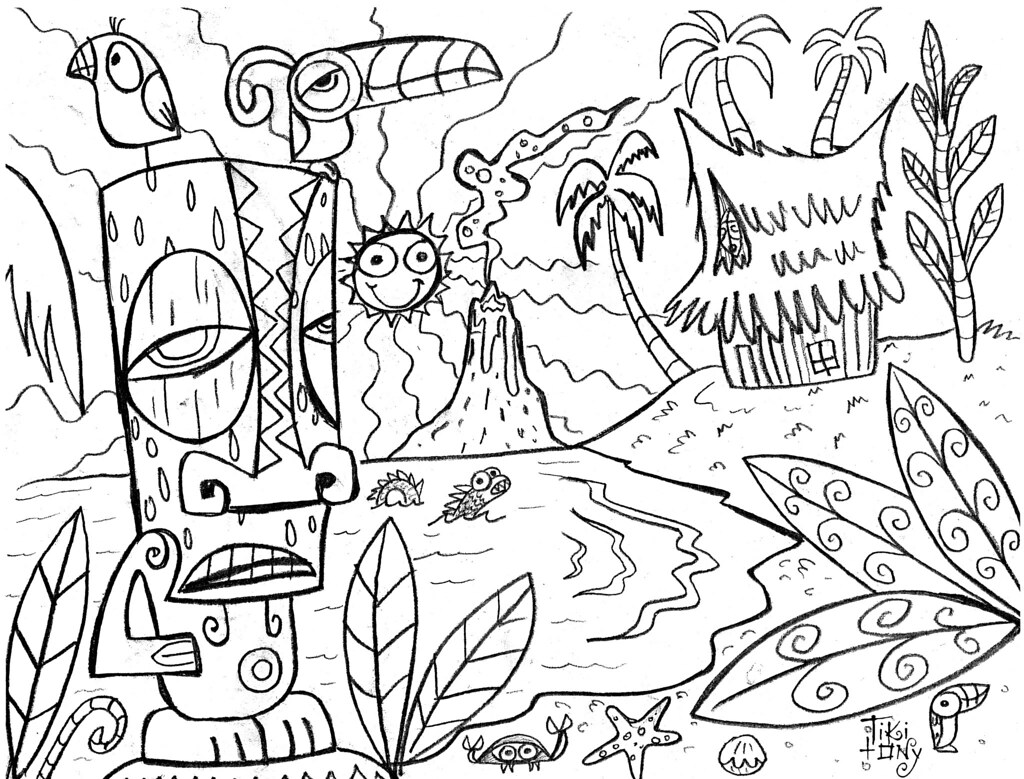 hawaii coloring pages - photo#27