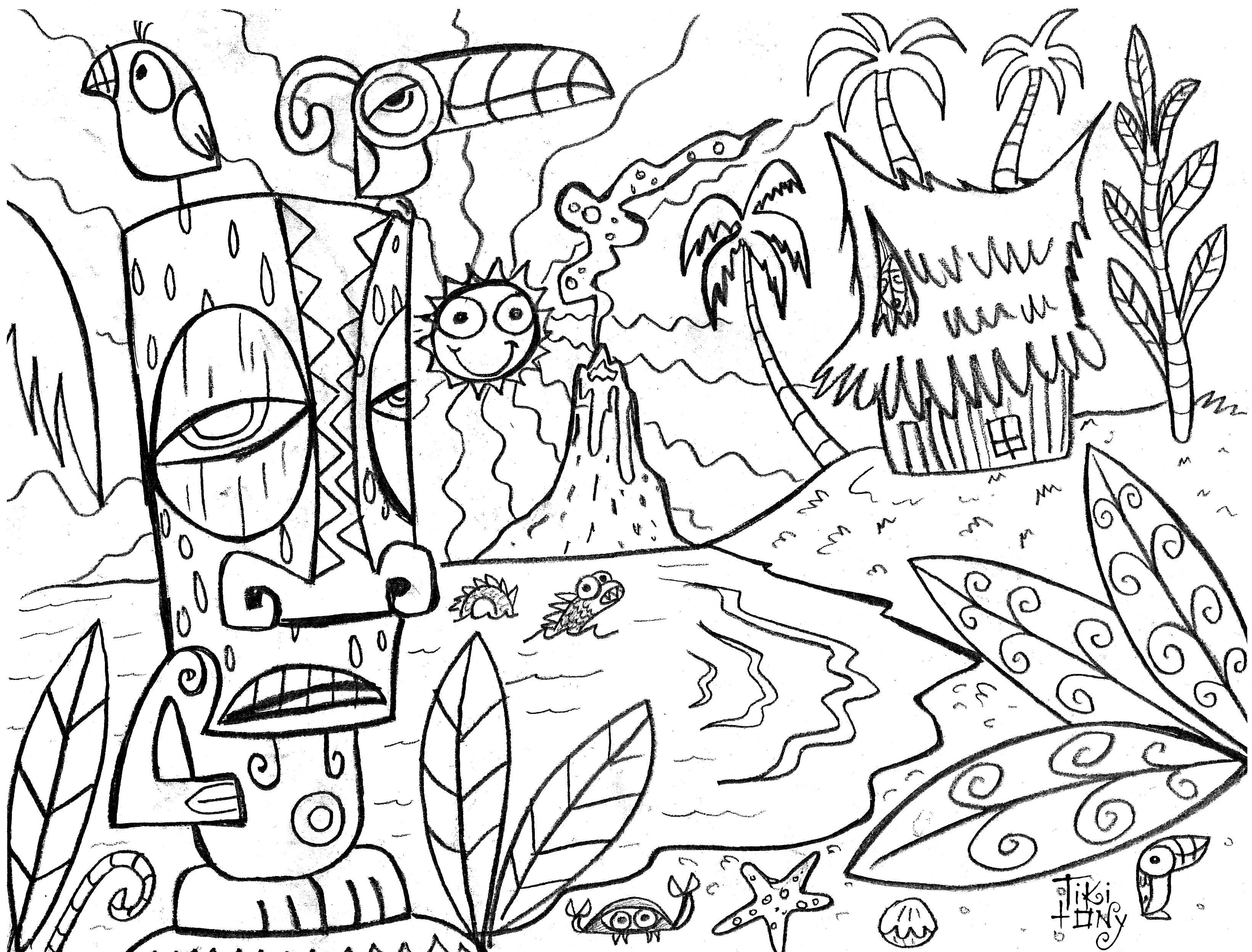 Holiday Coloring Pages Luau Coloring Pages Free Printable