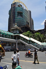 Central World after the terror in Bangkok, Thailand, in May 2010