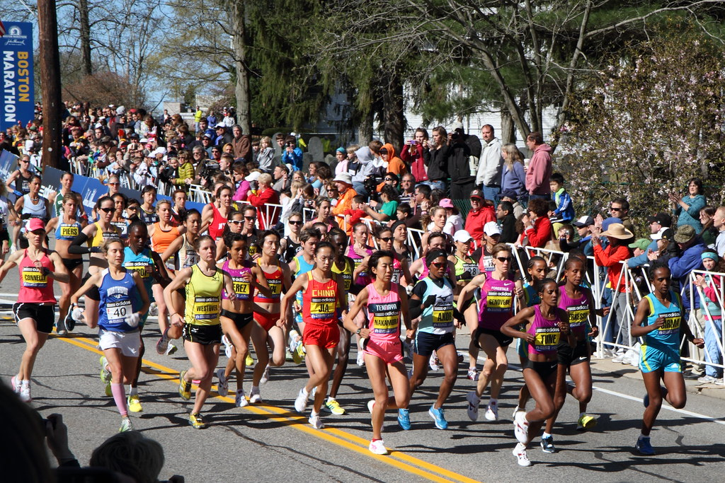 Boston Marathon - elite women, via Kinchan1 on flickr