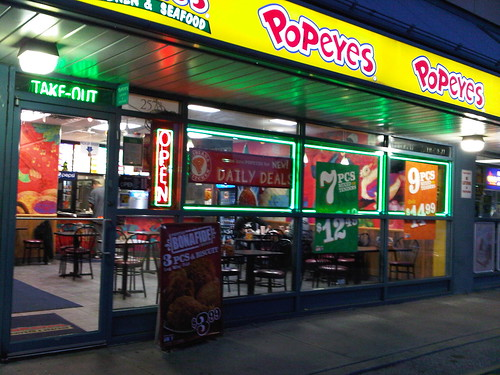Popeyes fried chicken edmonton for Dive bar shirt club promotion codes
