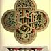 """013- Panel de madera pintado """"IHS"""" de la reja este -iglesia de Harling - Norfolk-Gothic ornaments.. 1848-50-)- Kellaway Colling"""