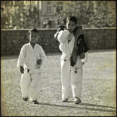 two martial fighters in Belgium