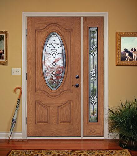 Feather River Door Fiberglass Entry Doors Light Oak Door