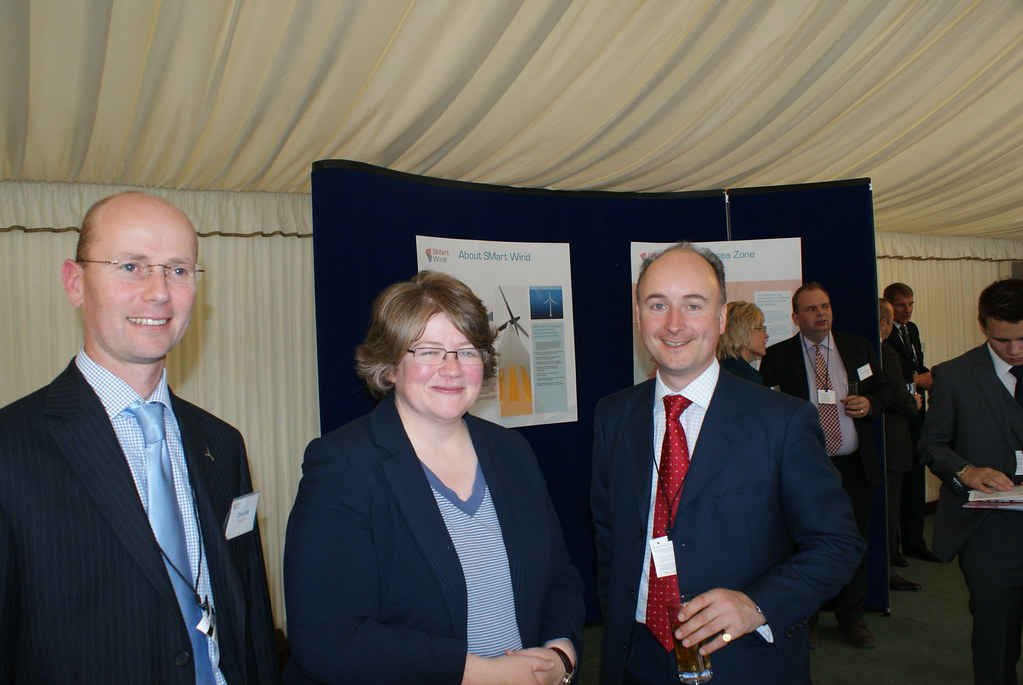Chris Hill, Therese Coffey MP and Adam Bruce