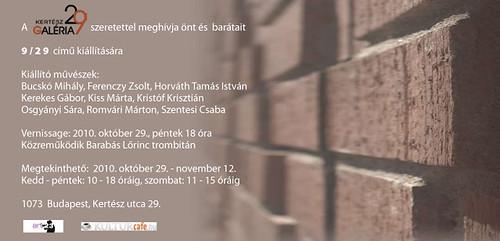 9/29 kiállítás a Kertész29-ben