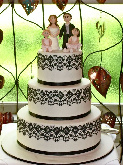 My first wedding cake 6912 inch chocolate mud layered with chocolate