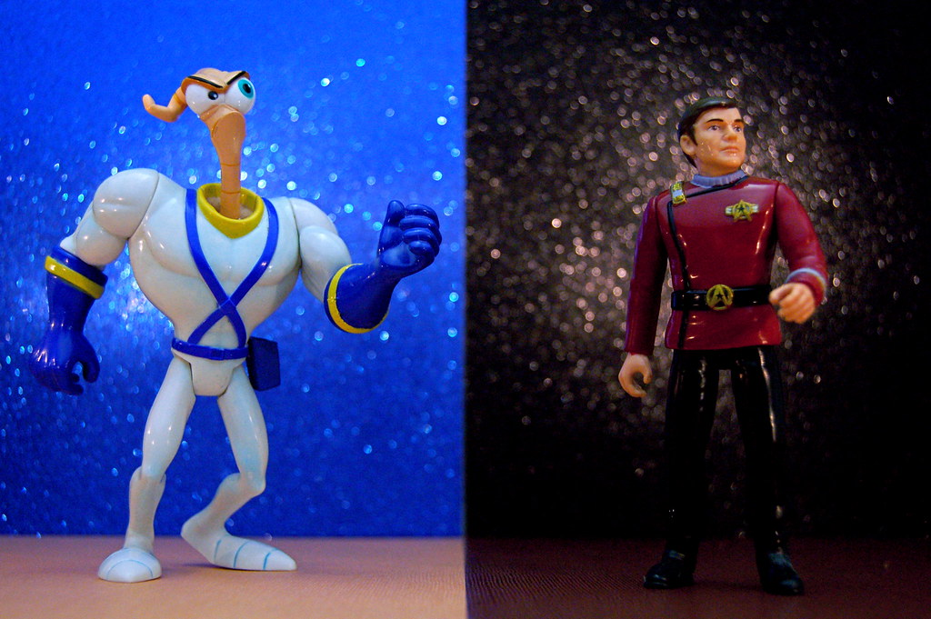 Earthworm Jim vs. Commander Pavel Chekov (321/365)