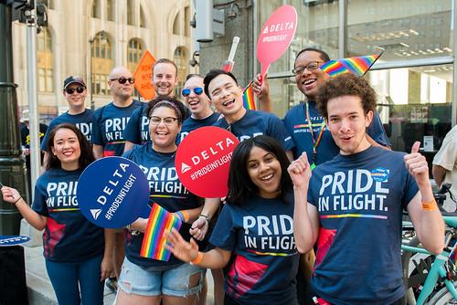 Delta at Pride 2017