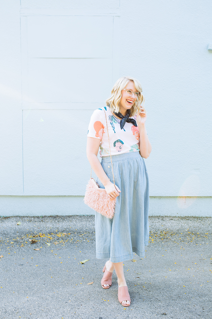 austin style blogger writes like a girl chambray madewell midi skirt10