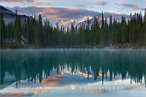 park mountain lake canada reflection nature water clouds sunrise canon reflections landscape geotagged reflecting landscapes britishcolumbia lodge national emerald meijer henk emeraldlake yohonationalpark floydian proframe proframephotography geo:lon=116541595 geo:lat=51442881 canoneos1dsmarkiii henkmeijer wrappingclouds emeraldinreflection