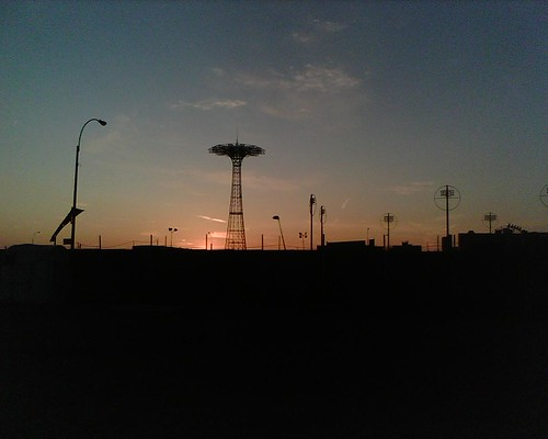 coney island sunset (parachute jump)
