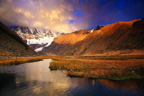 sunset mountain peru trekking geotagged andes per huayhuash ancash cordillerahuayhuash yerupaja geo:lat=1023325183 geo:lon=7694231987