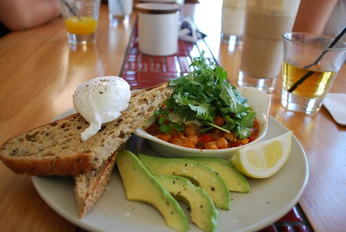 Poached Eggs With Middle Eastern Chickpea Bake Mitte Aud