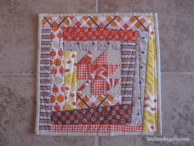 Fall Inspired Mini Quilt Swap Ready to Mail
